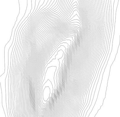 plan view of contour lines