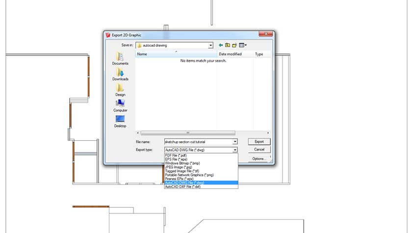 exporting dwg file from sketchup