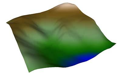 color gradient over terrain
