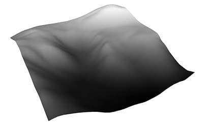 grayscale gradient over terrain