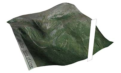 sketchup terrain with vertical surface on one side