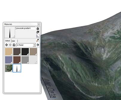 material selection in sketchup