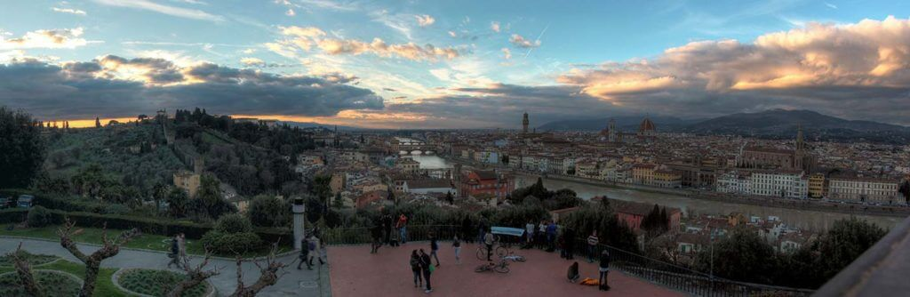 sunset at Piazzale Michelengelo