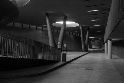 Antinori Cellars underground parking area