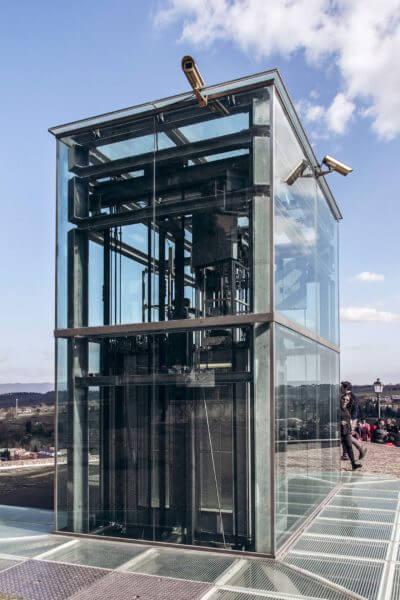 elevator at Colle di Val D'elsa