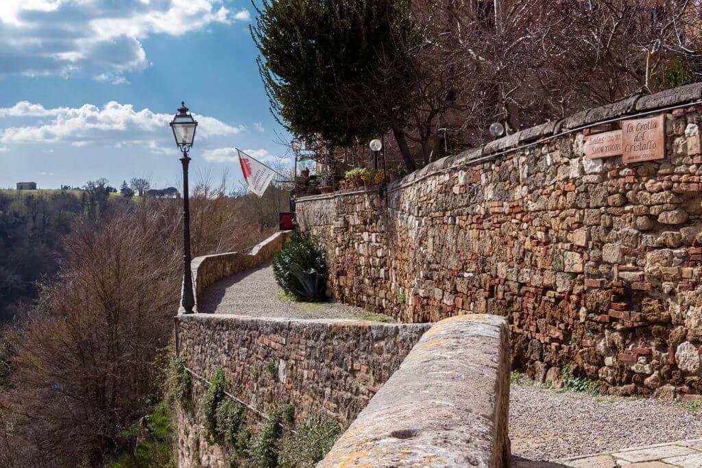 stone walls of Colle di Val D'elsa