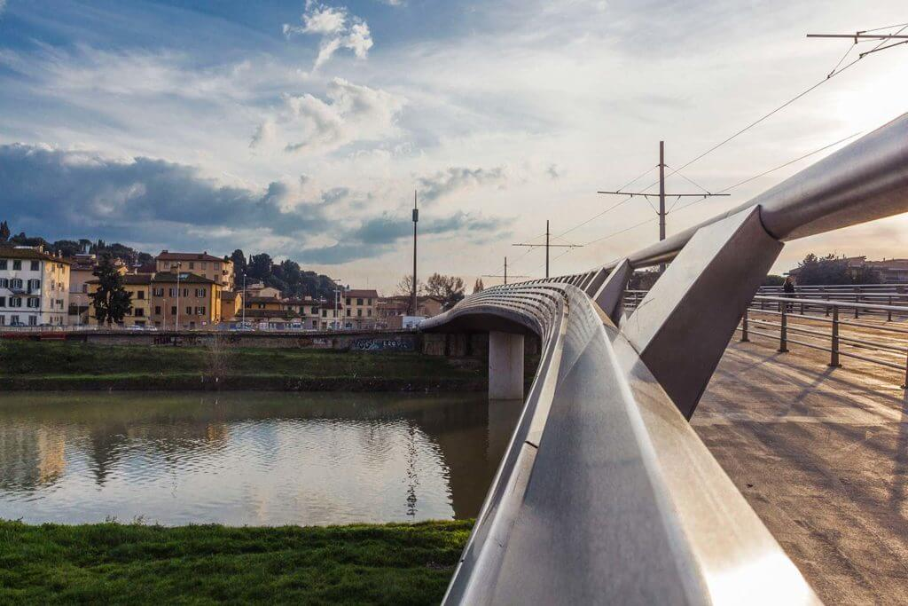 bridge over arno river at Cascine Park