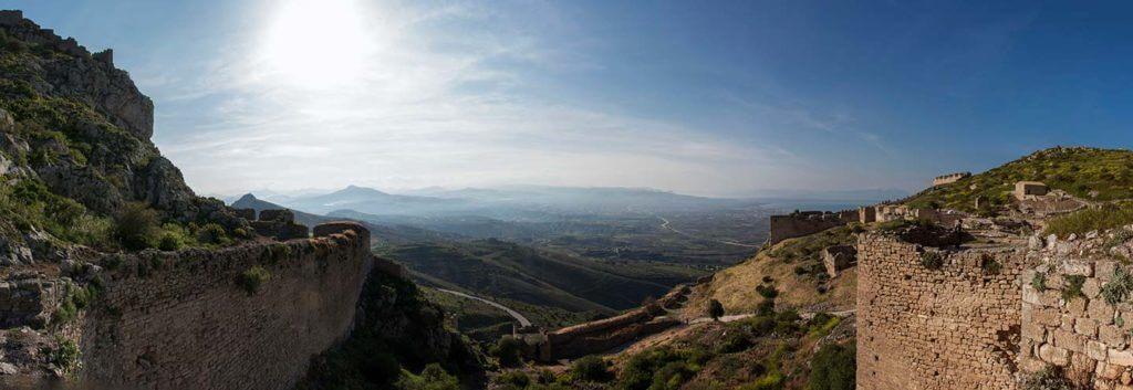 panorama of acrocorinth