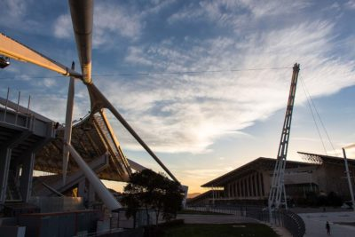 sunset at athens Olympic Park