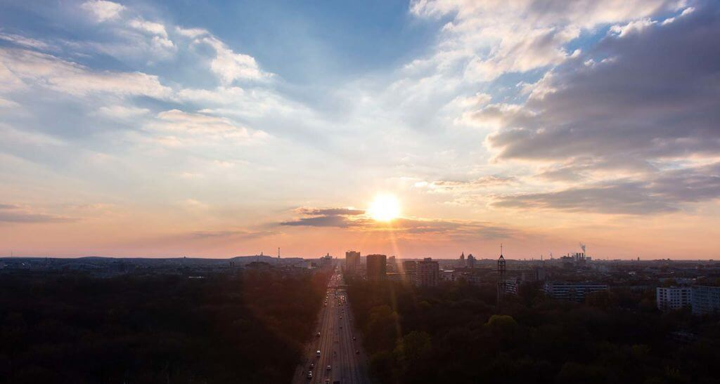 sunset from the Victory Column
