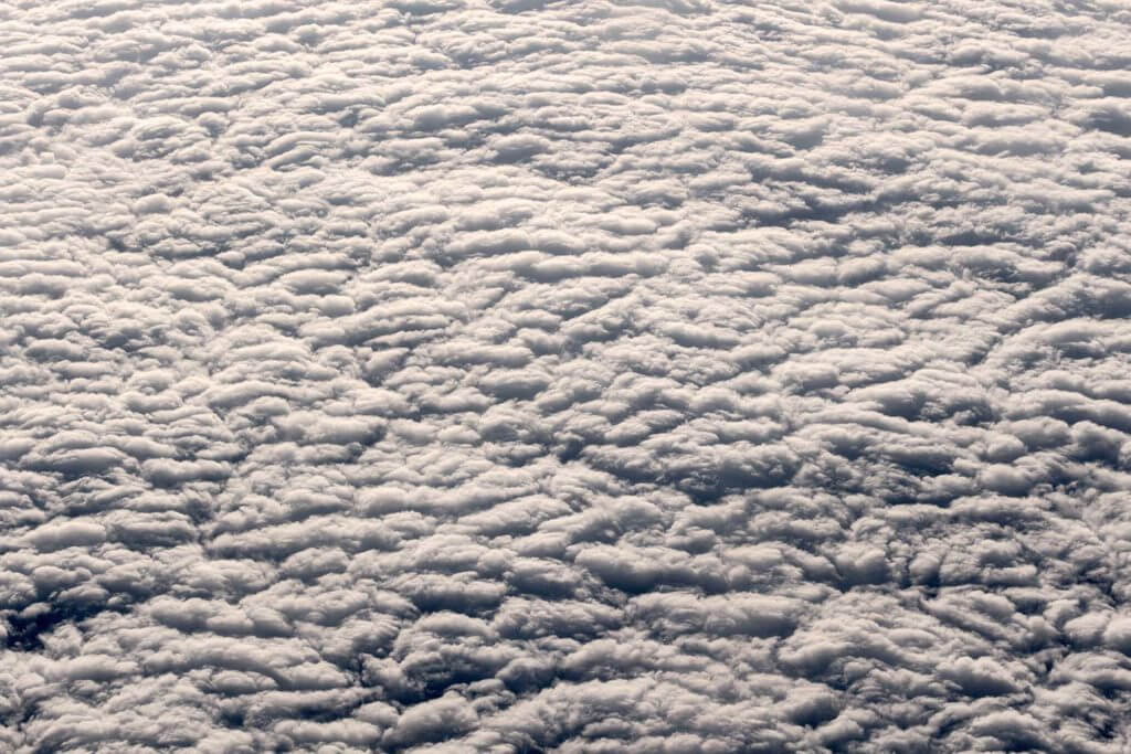 clouds viewed from an airplane