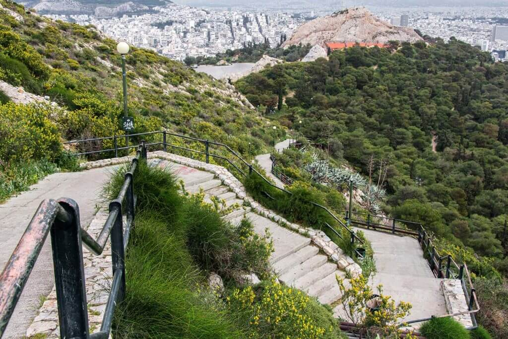 walkway down Lycabetus Hill