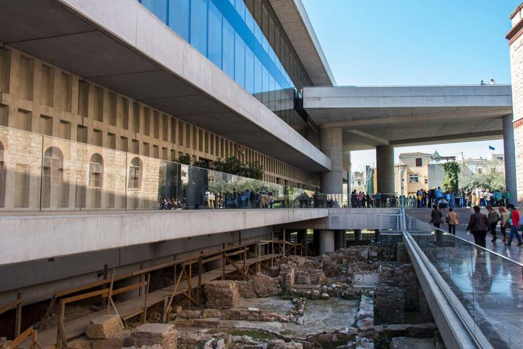 ruins under the New Acropolis Museum