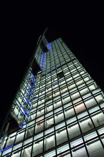 glass building at Potsdamer Platz