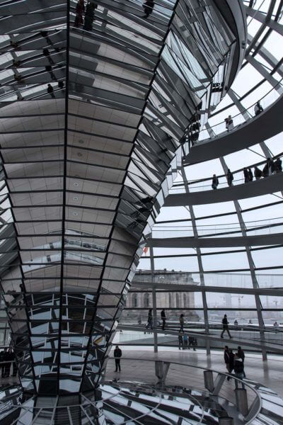 mirrors of the Reichstag Building