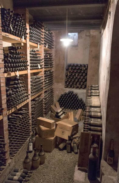 wine cellar at Castello di Verrazano