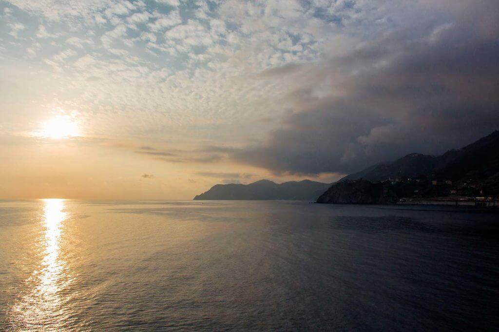Mediterranean sea sunset