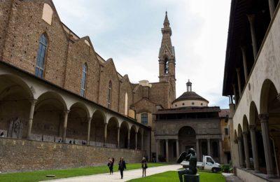Basilica Santa Croce courtyard