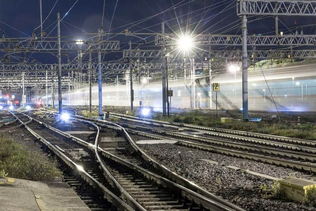 light trails at Firenze S.M. Novella Station.