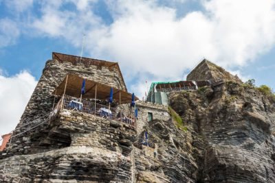 cliff side restaurant in Vernazza