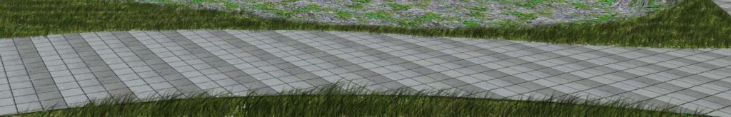 close up sample of painted grass in the render