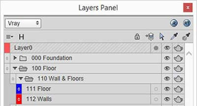 SketchUp Layer Organization for Architectural Modeling