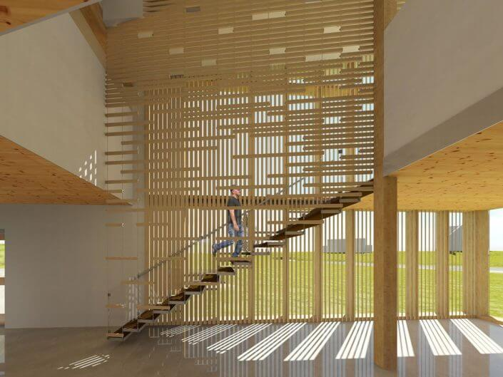 Suspended with a View: Stair & Screen