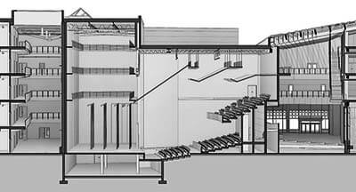 Shadows In Section Revit Theater Perspective Section