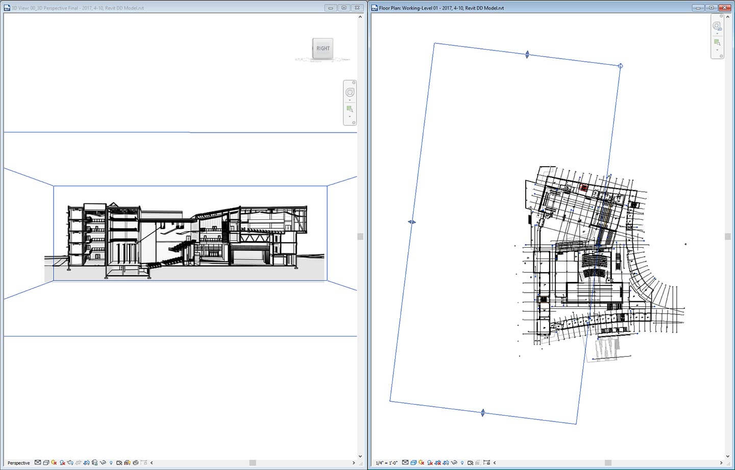 Creating a perspective section in revit dylan brown designs Floor plan view