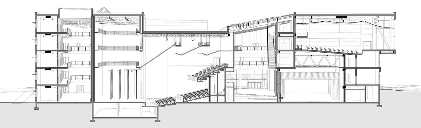Drawing Lines Revit : Shadows in section revit theater perspective