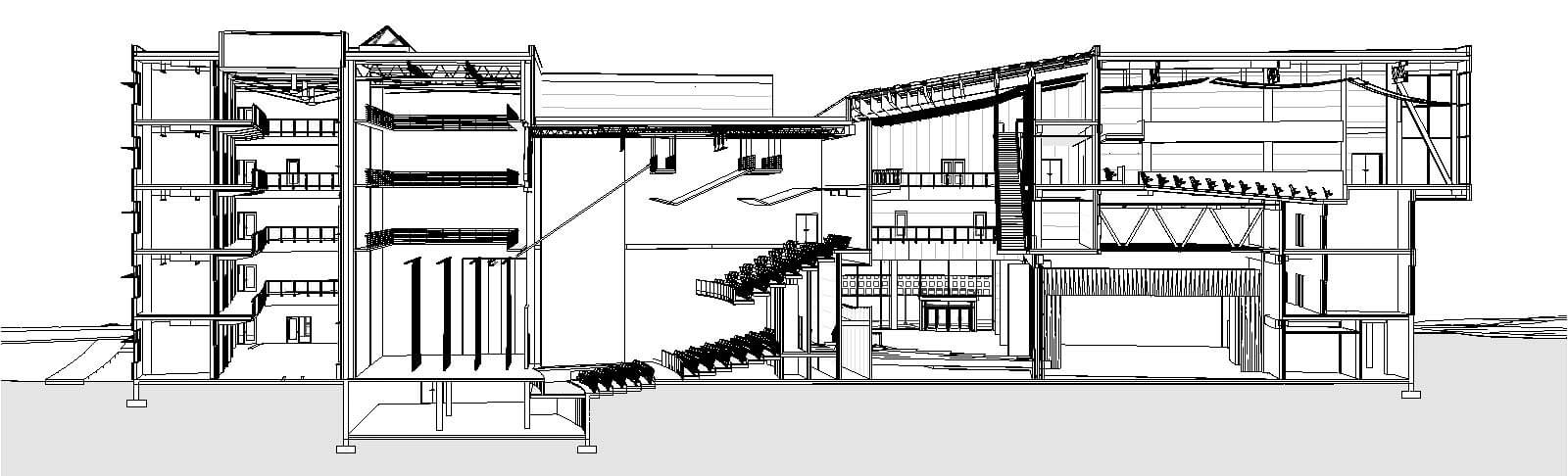Drawing Lines In Revit : Shadows in section revit theater perspective