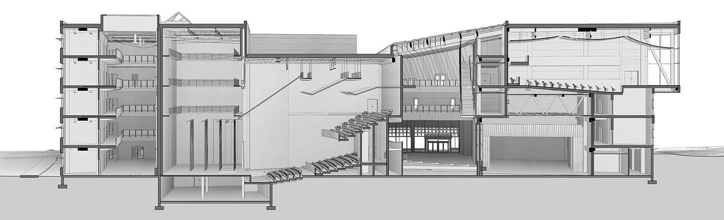 Shadows in Section: Revit - Theater Perspective Section
