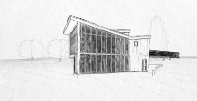 revit hand drawn look - artist retreat