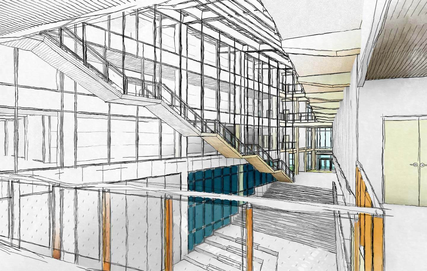Drawing Lines In Revit : Making revit look hand drawn watercolor dylan brown designs