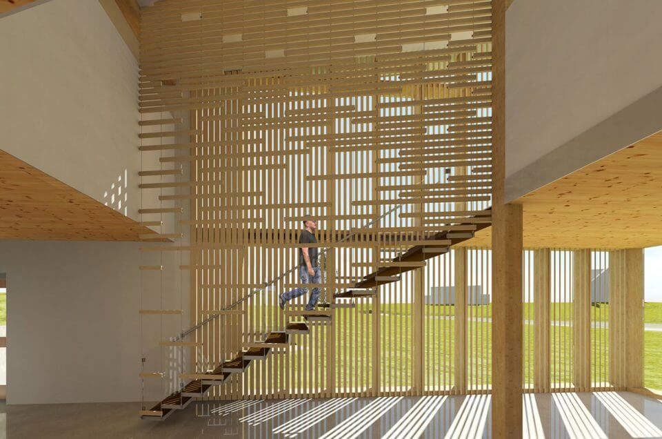 Suspended With A View Stair Amp Screen Dylan Brown Designs